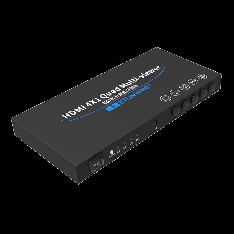 麒翼 HDMI 分屏器 4口 4进1出河豚直播和雨燕直播 分割器